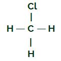 Fórmula estrutural do CH3Cl