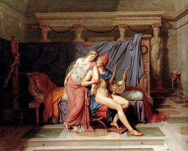 O Amor de Helena e Paris, quadro de Jacques-Louis David (1748-1825) que retrata o motivo inicial da Guerra de Troia