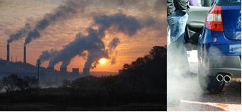 A poluição atmosférica pela queima de combustíveis fósseis aumenta a concentração dos gases-estufa na atmosfera