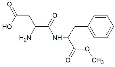 Estrutura química do aspartame