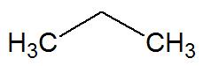 Fórmula estrutural de uma cadeia aberta normal