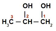 Fórmula estrutural do Propan-1,2-diol