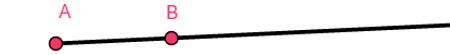 Semirreta de origem em A com direção B