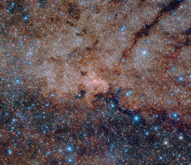 Imagem do centro galático da Via láctea feita pelo telescópio Hubble