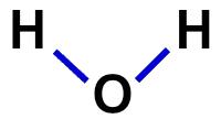 Fórmula estrutural da água