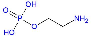 Fórmula estrutural da fosfoetanolamina