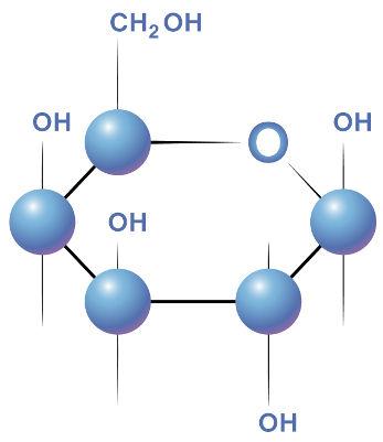 Fórmula estrutural da galactose