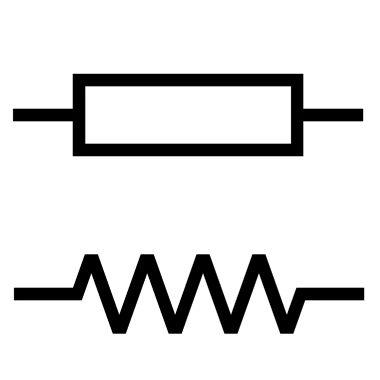 Representação de resistores por meio de símbolos