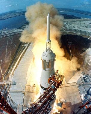 Lançamento da Apollo 11 em 1969