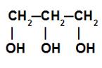 Cadeia carbônica de uma molécula de glicerol