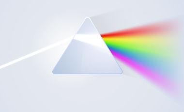 Espalhamento da luz em um prisma