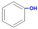 Fórmula estrutural de uma cadeia aromática mononuclear