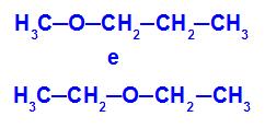 Isômeros que apresentam heteroátomos em diferentes posições na cadeia