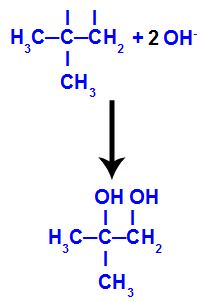 Diálcool vicinal formado a partir do 2-metil-propeno