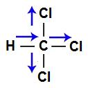Vetores na estrutura do Triclorometano