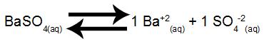 Equilíbrio de dissolução do BaSO4 em água