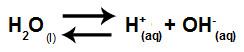 Equação que representa a hidrólise de ácidos e bases fortes