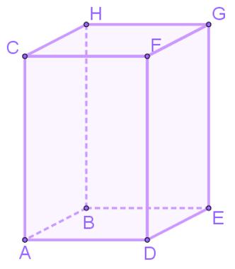 Exemplo de paralelepípedo que possui bases retangulares