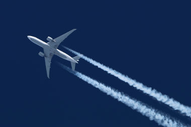 Rastro de um avião
