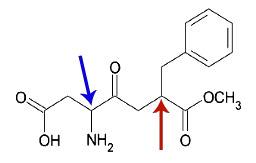 Demonstração dos carbonos quirais da estrutura