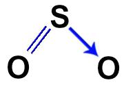 Estrutura do dióxido de enxofre