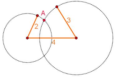 Trajetória de segmentos que não formam um triângulo