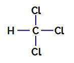 Fórmula estrutural do triclorometano