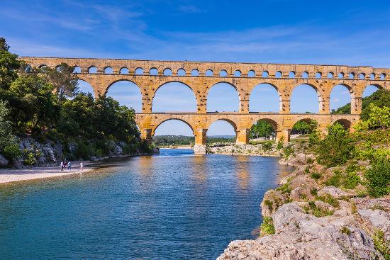 Aqueduto romano construído no século I