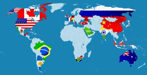 Mapa G20