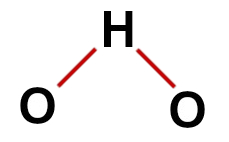 Fórmula estrutural correta da água