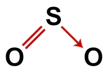 Fórmula estrutural correta do dióxido de enxofre