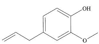 Fórmula estrutural do eugenol