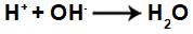 Equação representando a formação de água