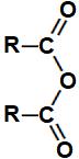 Equação representando a formação de um anidrido