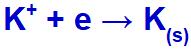 Equação de formação do potássio sólido