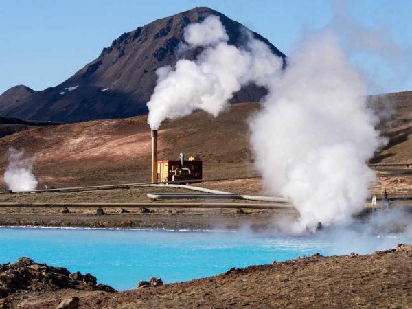 Usina geotérmica na Islândia.