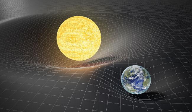 A relatividade geral explica que a gravidade decorre da deformação do espaço-tempo por objetos massivos, como estrelas e planetas.