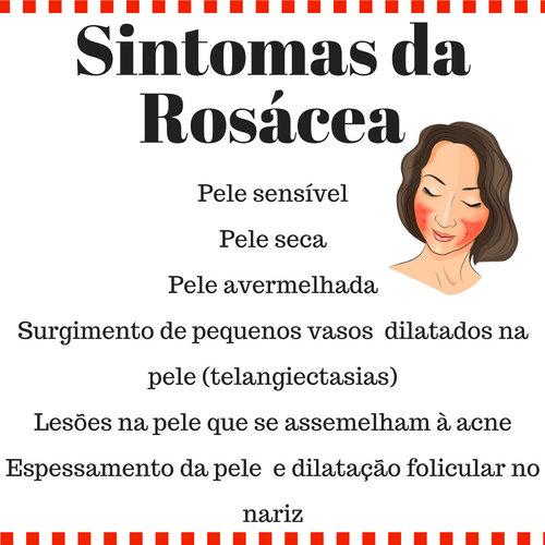 Sintomas da rosácea