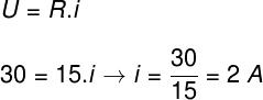 Cálculo da corrente elétrica – exercício