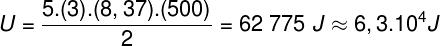 Cálculo da energia interna – exercício 3