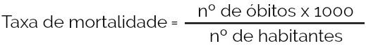 Cálculo da taxa de mortalidade