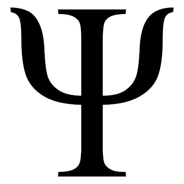 """A letra grega """"psi"""" é o símbolo da Psicologia."""