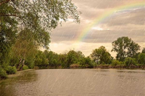 Durante o verão, é comum a ocorrência de chuvas de curta duração e de forte intensidade.