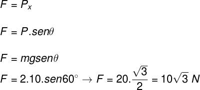 Cálculo da força – exercício 3