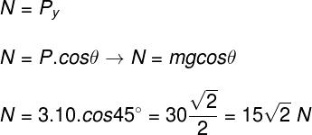 Cálculo da força normal – exercício 2