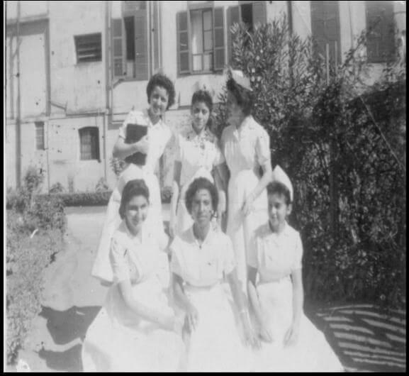 Alunas da Escola de Enfermagem Carlos Chagas em 1956