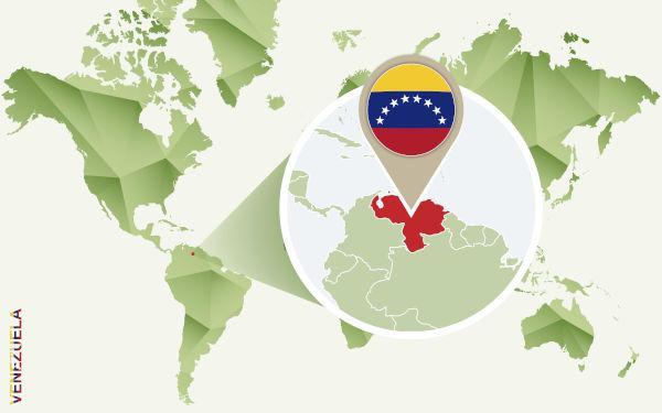 Localização da Venezuela