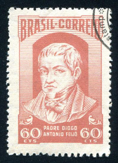 Diogo Antônio Feijó, o padre Feijó, foi um dos grandes nomes da política brasileira durante o Período Regencial.*