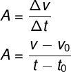 Fórmula da aceleração média detalhada