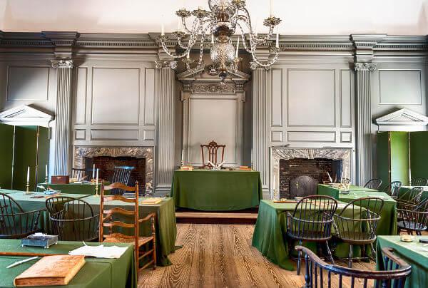 Local no qual foi realizado o Segundo Congresso Continental da Filadélfia.**